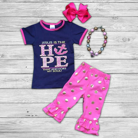 Hope Anchors The Soul Pant Set with Accessories