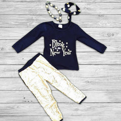 Bling in the New Year Pant Set with Bow
