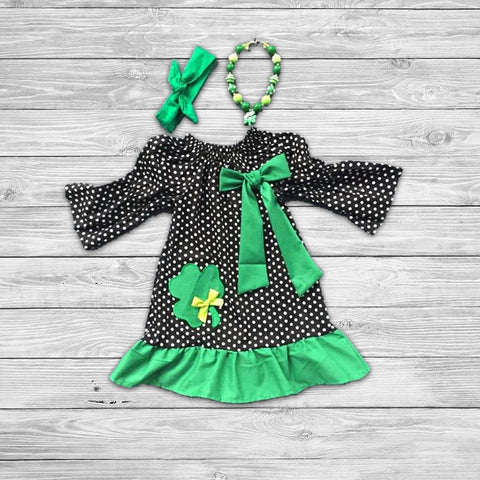 St. Patty Shamrock Dress with Accessories