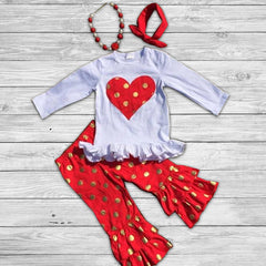 Be Mine Pant Set with Accessories