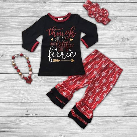 She is Fierce Pant Set with Accessories