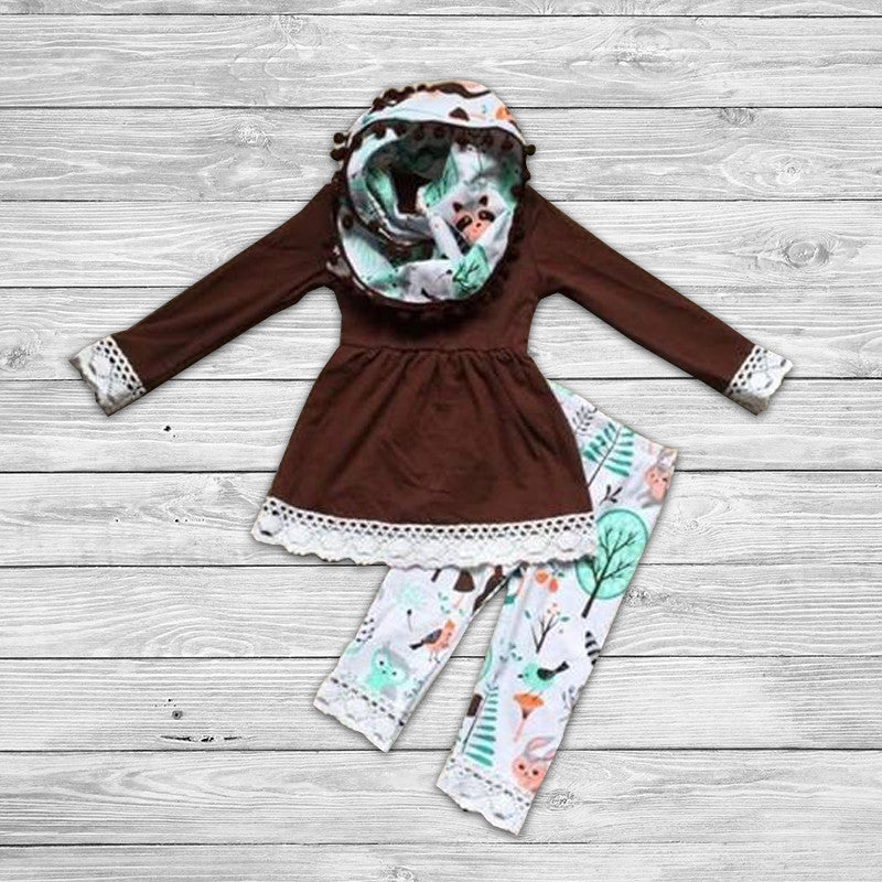 Foxy Pant Set with Infinity Scarf