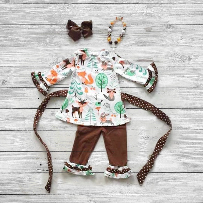 Forest Friends Pant Set with Accessories