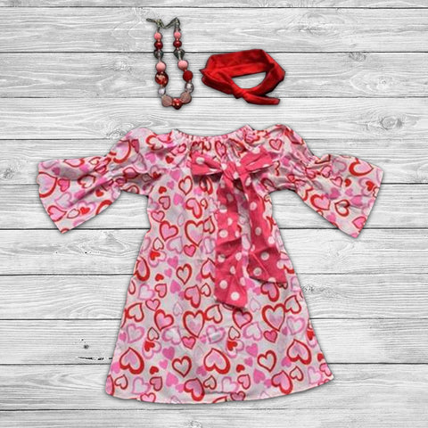 Heart on Your Sleeve Dress with Accessories