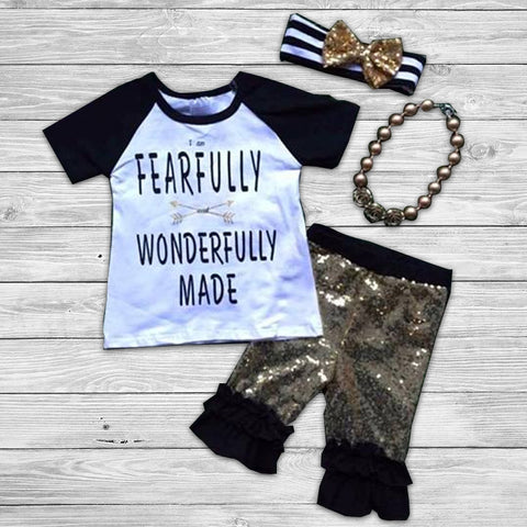 Fearfully and Wonderfully Made Pant Set with Accessories