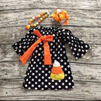 Candy Corn Halloween Frock Dress