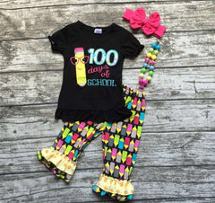 100 Days of School Bow and Necklace
