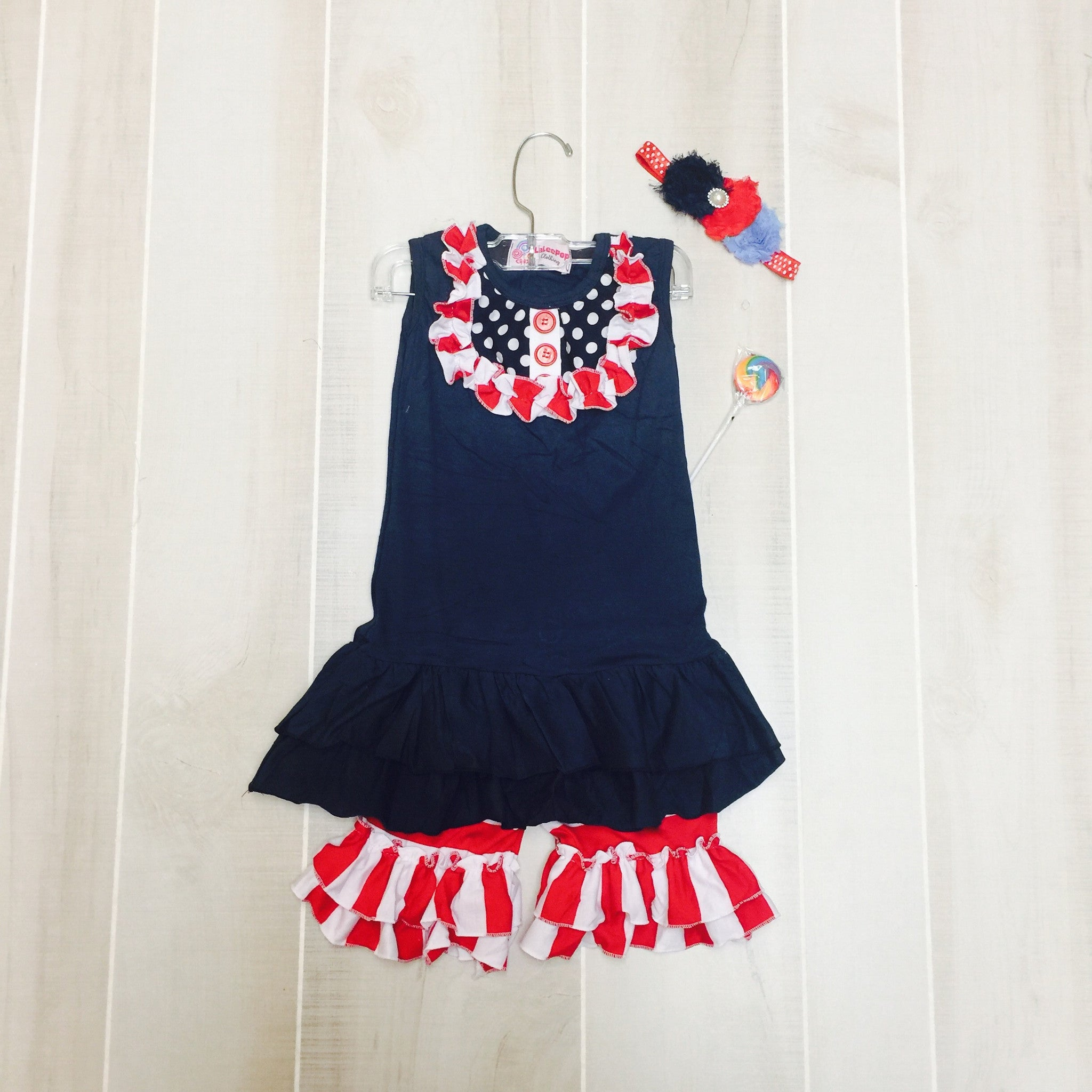 Patriotic Short Set with Bow