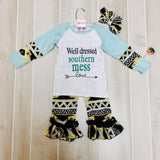 Well Dressed Southern Mess Set with Headband