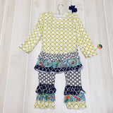 Yellow Moroccan Ruffle Set with Bow