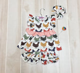 Funky Chicken Short Outfit with Headband