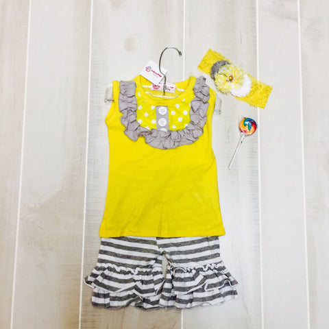 Bee Beautiful Short Set with Bow