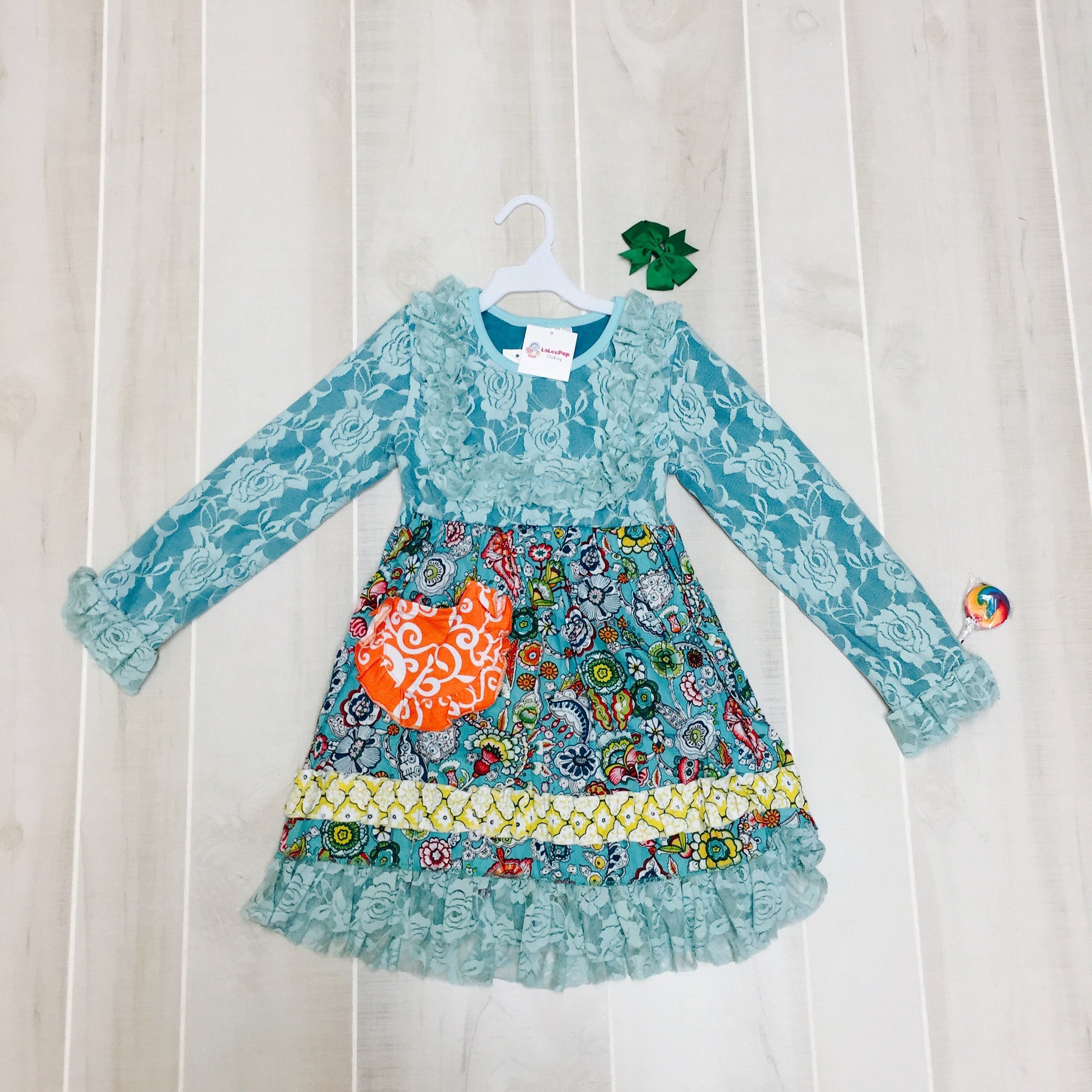 Kaleidoscope Dress with Bow