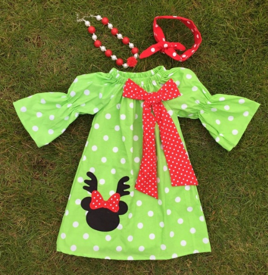Reindeer Frock Dress with Accessories