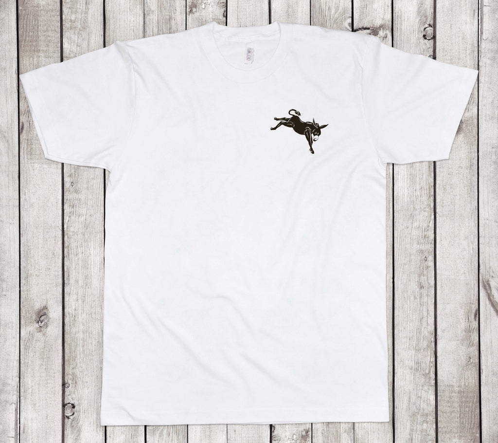 **New Men's DEFWU Mule Tee (WHITE Standard Length)