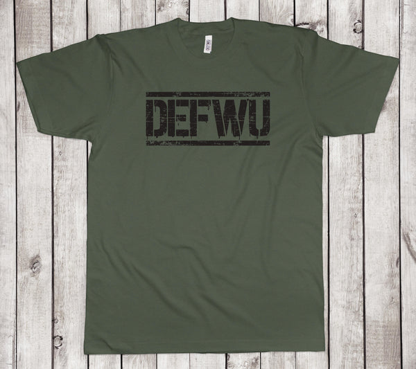 **New Men's DEFWU OD Green T-Shirt (Standard Length)