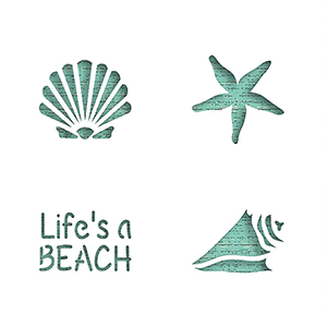 Sea & Beach Stencils Collection