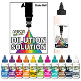 Airbrush Dilution Solution+11 Gel Colors Set