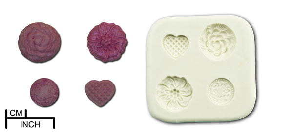 Ornamental Brooches & Buttons Collection - 7 Products