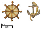 Anchor and Ship's Wheel Mold