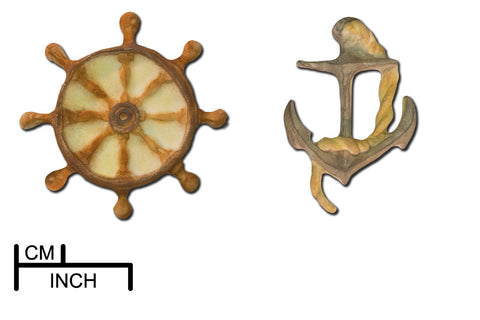 Anchor and Ship's Wheel