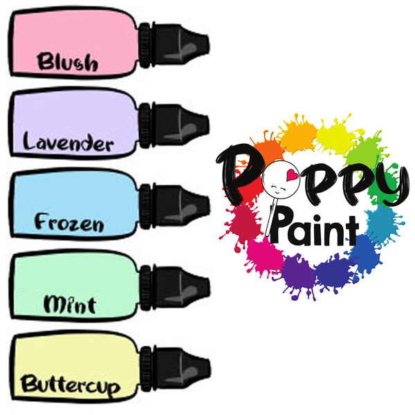 Poppy Paint Set: Pastels