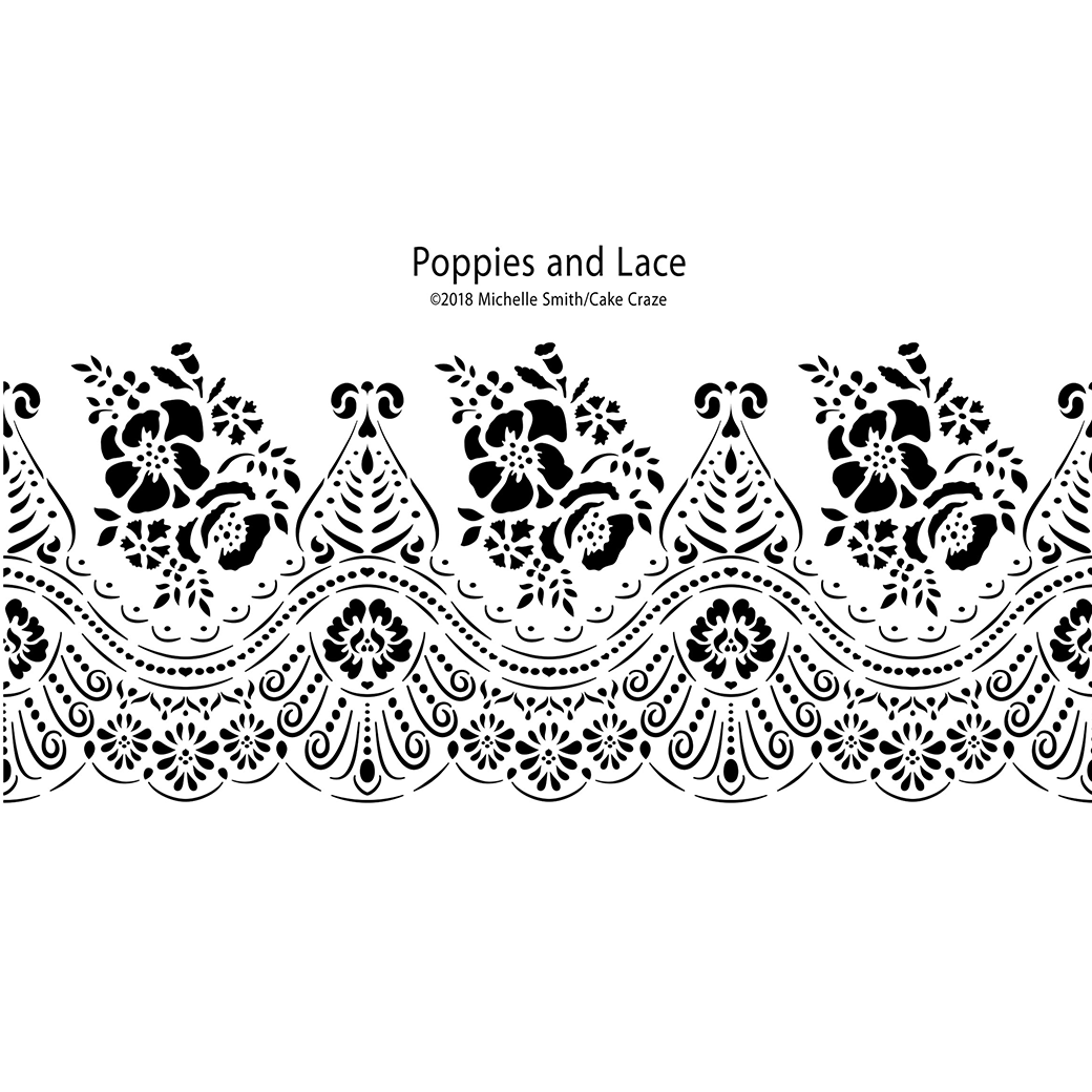 Cake Craze Stencils - Classic Florals, Laces, & Filigrees Collection