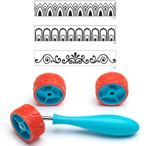 Textured silicone roller sets, small
