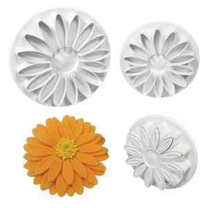 Sunflower, Gerbera Daisy, and Daisy Veined Plunger Cutters Set