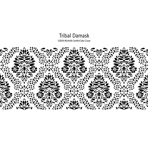 Cake Craze Stencils - Tribal Damasks Collection