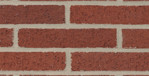 Cherry Red Velour Modular Thin Brick Corner   By Glen Gery   FREE Shipping  4 Lin.Ft.