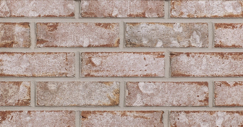 White Rose Modular Thin Corner Brick  By Glen Gery    FREE Shipping  4 Lin.Ft.