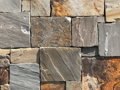 Tennessee Mountain Stone Market Street Blend Sawn Thin Veneer Corners FREE Shipping - Sold in boxes of 10 Lin. Ft. - $14.99 per Lin. Ft.