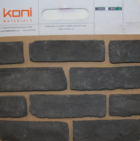 Old Chicago Charcoal Thin Brick Sample