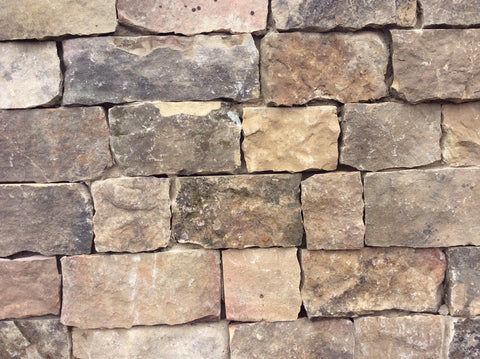 "Tennessee Mountain Stone Ledgestone 3-6"" Sawn Thin Veneer Corners FREE Shipping 10 LIn. Ft. - $14.99 per Lin. Ft."