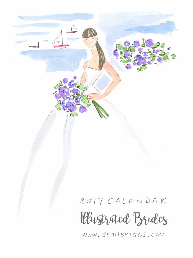 2017 Illustrated Brides Calendar….It's here!