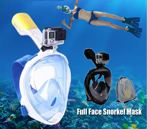 Underwater Scuba GoPro Camera Anti Fog Face Snorkeling Diving Mask