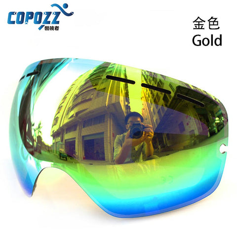 Ski goggles Anti-fog UV400 Big Spherical Lens GOG-201L