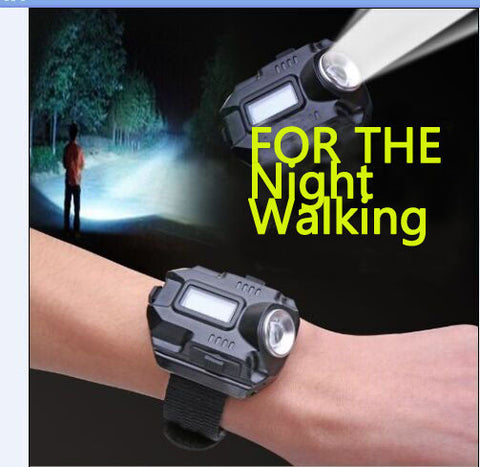 LED Wrist Watch USB Tactical Rechargeable Flashlight