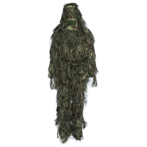 Ghillie Suit Hunting Woodland 3D Bionic Leaf Disguise CS Camouflage Uniform