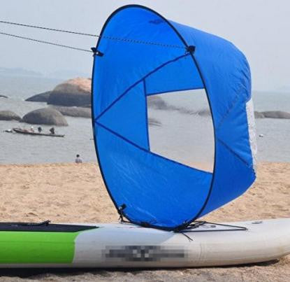 "Durable 42"" Kayak Boat Wind Sail with clear window"