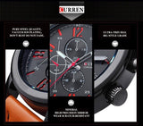Luxury Brand Watches Male Fashion Casual Men Sports Leather Strap Wristwatch