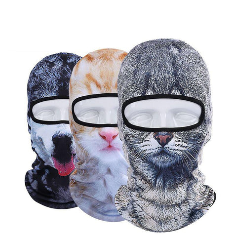 3D Cap Animal Outdoor Sports Masks Ski Hood Hat Veil Balaclava UV Full Face Mask
