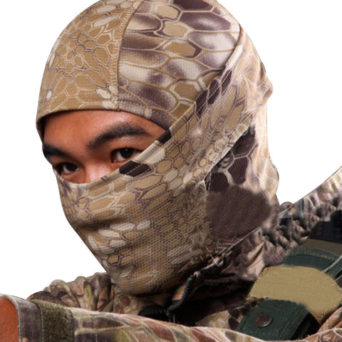 5 Color Tight Camo Balaclava Tactical Airsoft Paintball Motorcycle Protection Full Face Mask