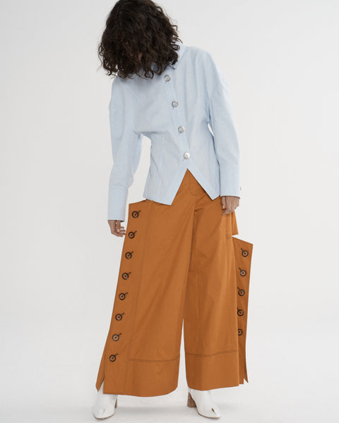 Button Panel Pants