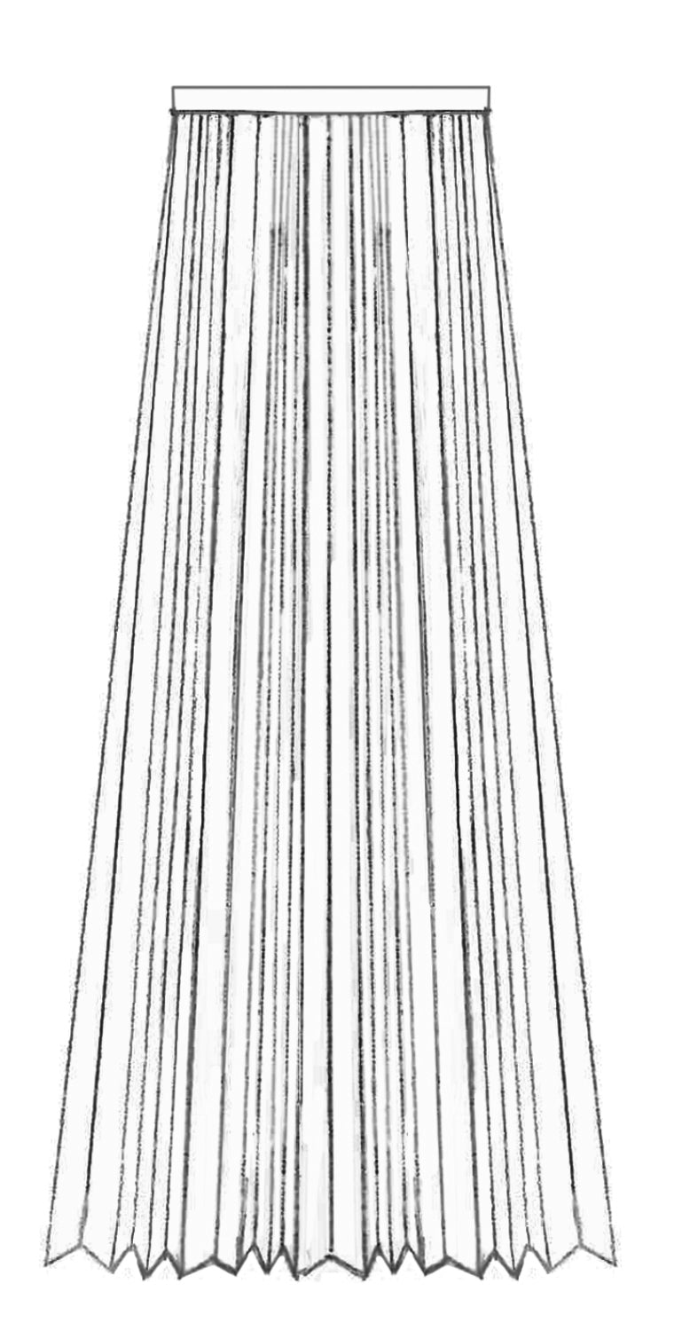 SS21 Translucent PU Pleated Skirt