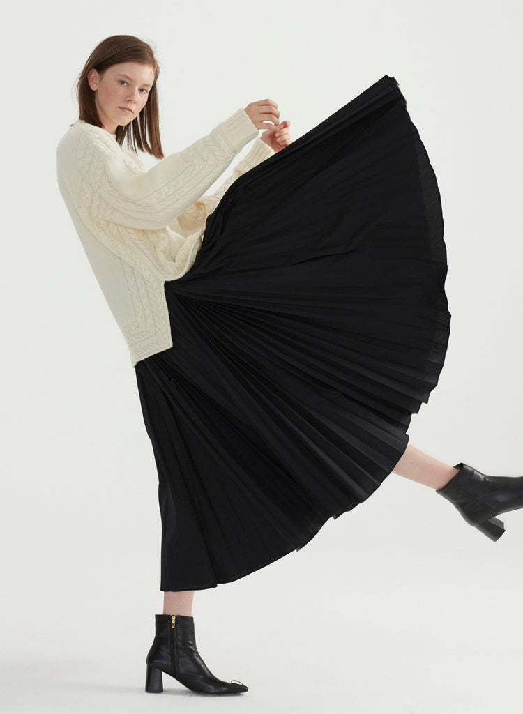 Pleat on Pleat Skirt