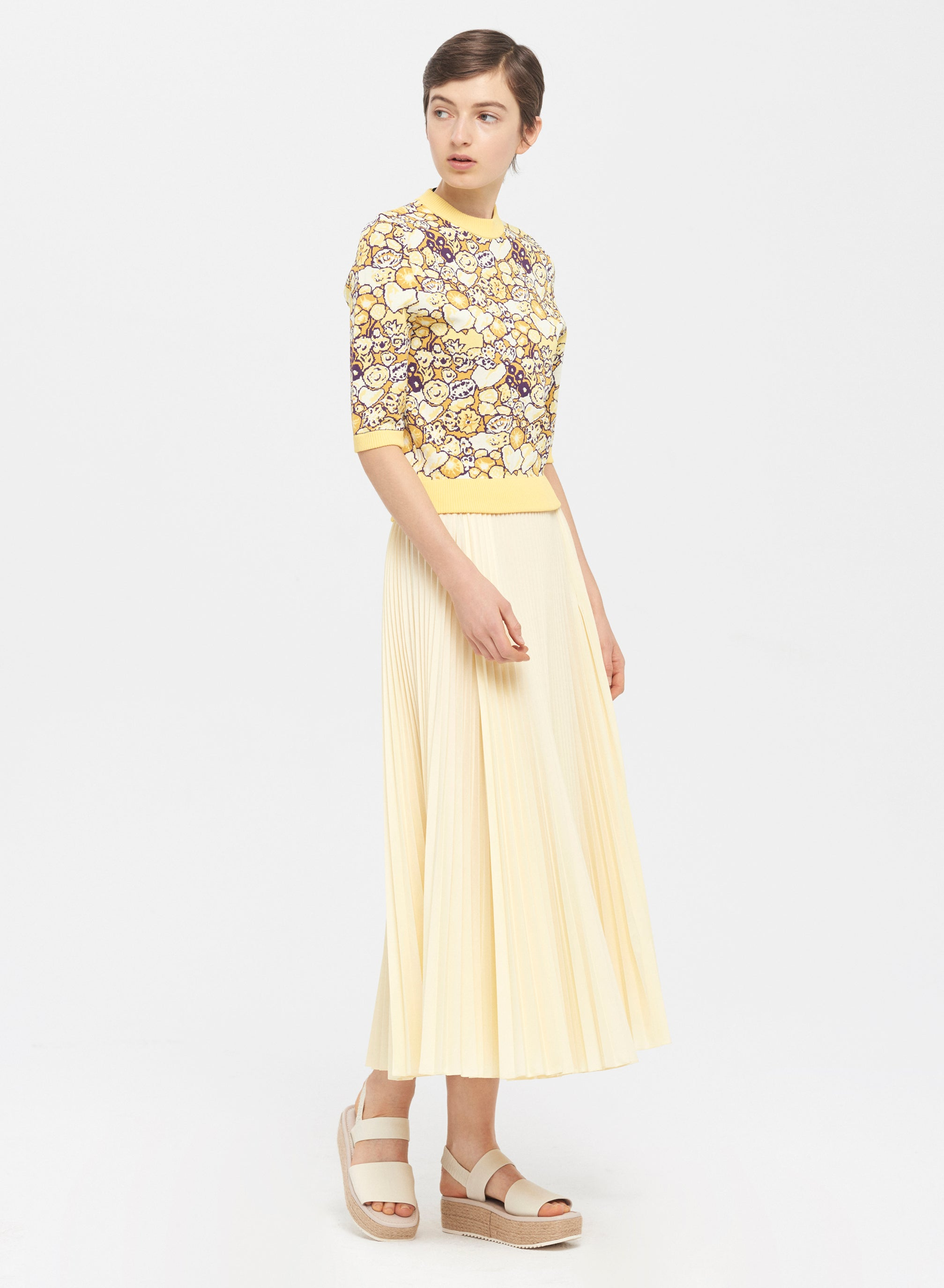 Broadcloth Pleated Skirt