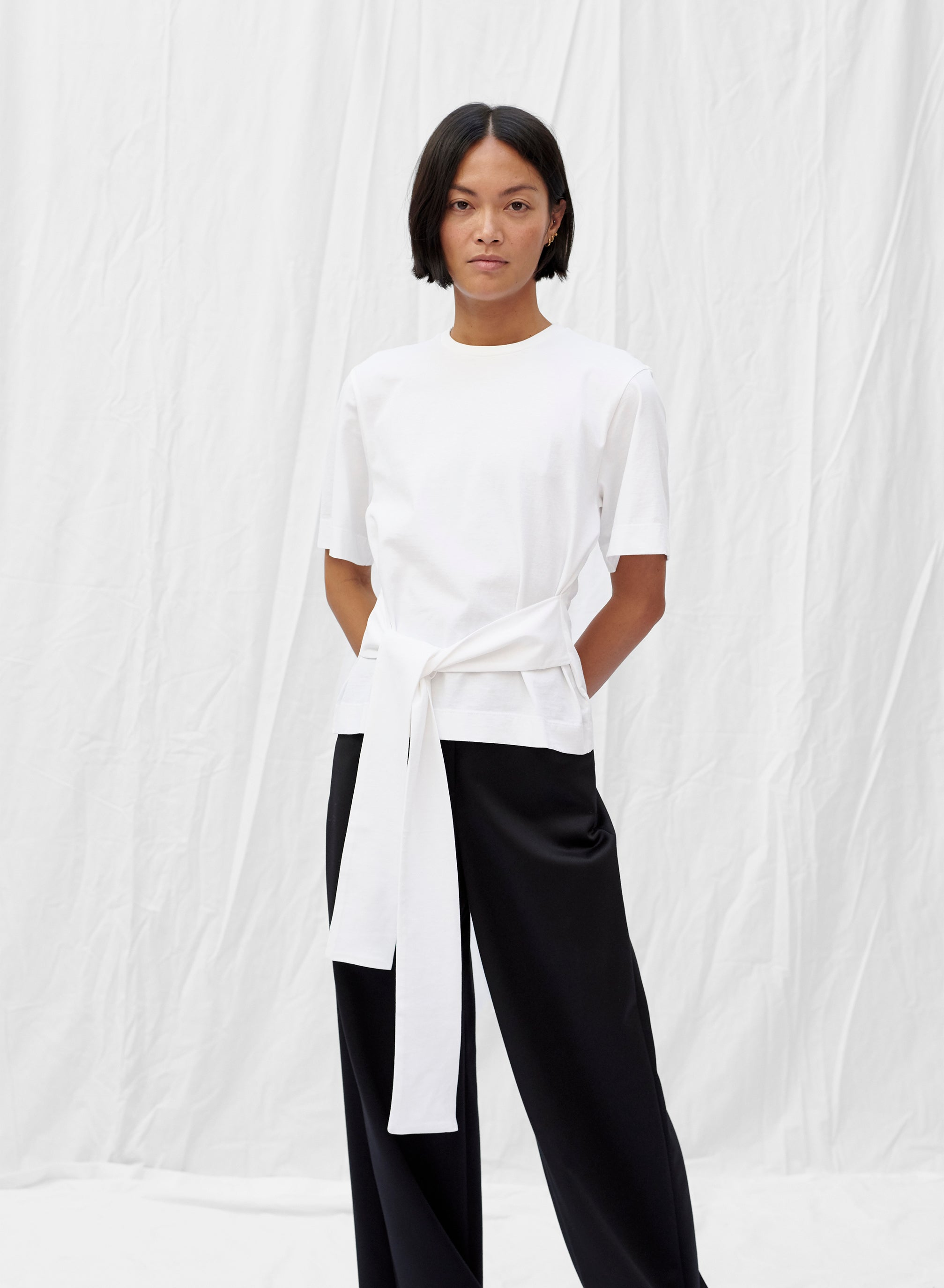 Boxy T-Shirt with Belt