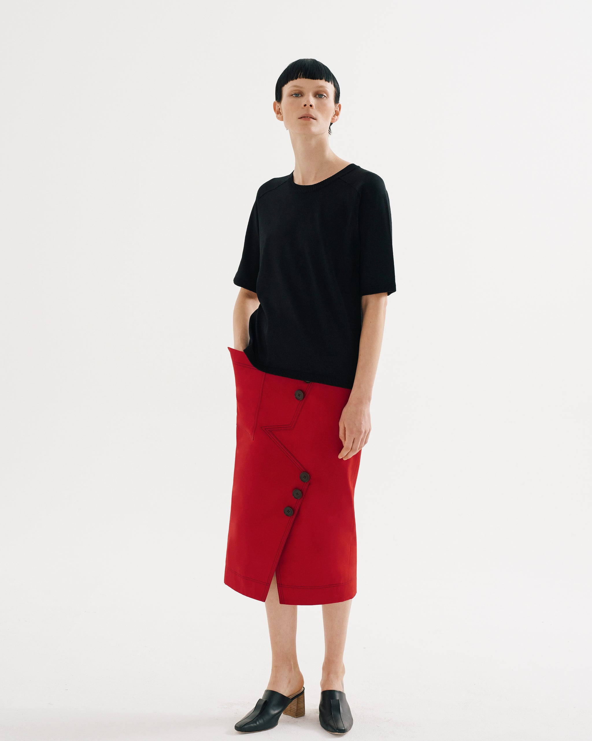 Asymmetrical Panel Skirt